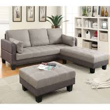 Taupe Living Room Furniture Furniture Of America Oneka Taupe Grey 3 Piece Convertible Futon