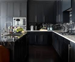 black kitchen cabinets with white marble countertops. Modren Kitchen Noir Kitchen Cabinets With White Marble Countertops For Black With K