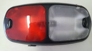 Weldon 2010 Light Weldon 8086 Red Clear Interior Lamp Dome With Push Buttons