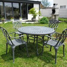 alice 4 seater slate round garden or