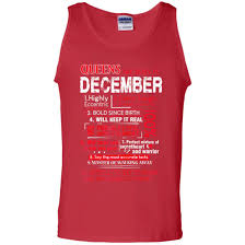 Queens Are Born In December Quotes Funny Tank Top