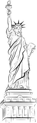 Coloriage New York Statue De La Libert Imprimer