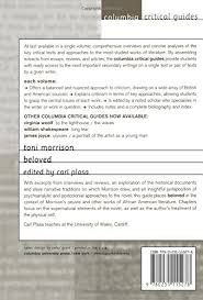com toni morrison beloved columbia critical guides com toni morrison beloved columbia critical guides 9780231115278 carl plasa books