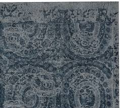 bosworth printed wool rug blue pottery barn