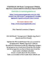 Gantt Chart Mobile App Strayer Cis 348 Week 7 Assignment 5 Mobile App Part 2 2