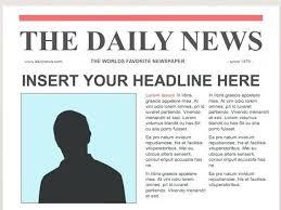 Editable Newspaper Template Word Newspaper Template Powerpoint Ppt Download Editable
