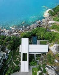 ultra modern architecture. Top View Of Villa With Contemporary And Ultra Modern Architecture