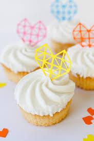 Geometric Heart Cake Toppers Bespoke Bride Wedding Blog