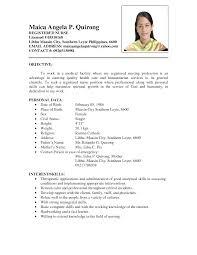 Resume For Nursing Job Application Free Nurses Resume Format Download Templates Nursing Template And 5