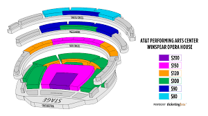 At7t Center Seating Chart Dallas At T Performing Arts Center Winspear Opera House