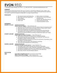 6 Automotive Technician Resume Letter Adress