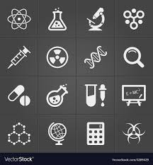 Science Physics Science And Physics Related Icons On Black