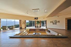 simple sunken living room