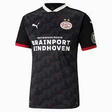PSV Eindhoven Third Replica Men's Jersey   Puma Black-High Risk Red   PUMA  Football Clubs