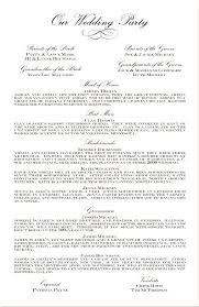 sample wedding program wording rustic country wedding invitations programmes unusual program