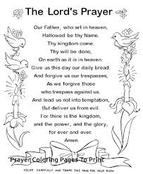 Prayer Coloring Pages The Lords Prayer Printable Coloring Pages