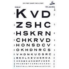 Eye Exam Test Chart Printable Amazon Com Graham Field 1264 Snellen 10 Eye Test Chart For