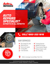 Auto Repair Flyer Auto Repair Services Flyer Template Postermywall