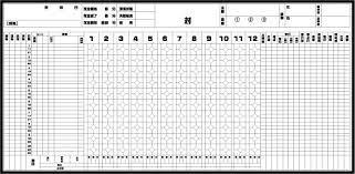 野球 スコア ブック 書き方