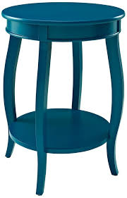 Amazon Powell Furniture Teal Round Table with Shelf Kitchen
