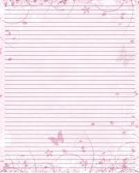 Lined Stationery Paper Butterfly Print Paper Printable Writing Paper 24 By =Lady 17