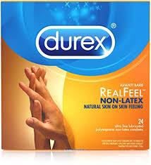 <b>Durex Real Feel</b> Polyisoprene Non Latex Lubricated Condoms, 24 ...