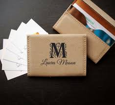Personalized Business Card Holder Custom Business Card Etsy