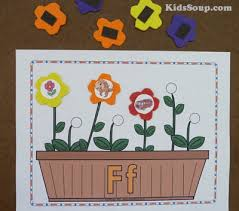 flower garden preschool and kindergarten age arts activities