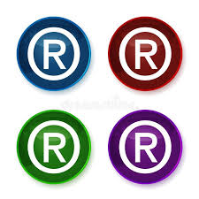 Registered Symbol Shiny Registered Trademark Symbol Stock Illustration