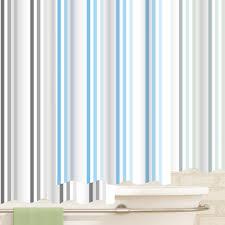 blue grey duck egg 100 polyester brighton rock striped shower curtain