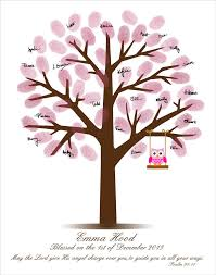 Baby Shower Fingerprint Tree Baby Shower GuestbookFingerprint Baby Shower Tree