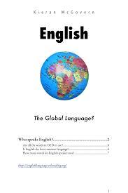 essay writing on english as a global language