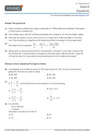 awesome collection of linear equations in one variable worksheets for class 8 in proposal