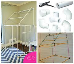 reclaimed pvc pipe fort idea