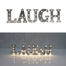 decorative illuminated marquee word sign silver color 421 tall lighted letter words and signs for tabletop