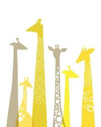 above the giraffe wall art unique handmade premium yellow combination grey wonderful international cool decoration crib and birds