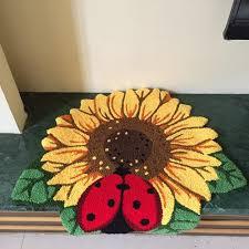Ladybug Bedroom Aliexpresscom Buy Fashion Cartoon Sunflower Ladybug Carpets
