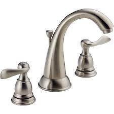 satin nickel bathroom faucets:  elegant shop delta windemere with plastic drain brushed nickel  handle for brushed nickel bathroom faucets