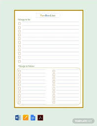 Nanny To Do List Template Free To Do List Template Pdf Word Apple Pages