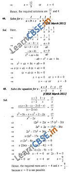 cbse class 10 quadratic equations solutions saq 3 marks 01