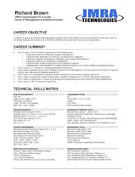 Cover Letter Resume Objective For It Position Resume Objective For