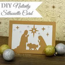 Diy Christmas Cards Xmas Card Baby Jesus Diy Nativity Silhouette Christmas Card From