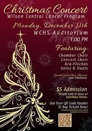 Christmas Concert Poster December Concert Poster Wilson Central High School Choirs