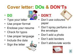 cover letter dos and don ts cover letter dos and donts magdalene project org