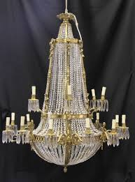 xl french louis xvi ormolu chandelier light crystal glass lights
