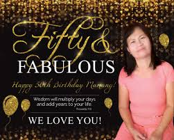 Happy 50th Birthday Tarpaulin Designs Elegant Birthday Tarpaulin 50th Birthday Gold Birthday
