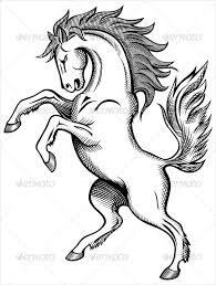 Western Horse Drawing 19 animal drawing templates free psd, ai, eps format download on free psd photo templates