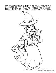 Small Picture Witch black cat coloring pages Hellokidscom