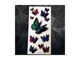 Voděodolné Dočasné Tetování Motiv Motýl 3d Barevná