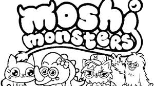 Moshi Monsters Coloring Pages Predragterziccom